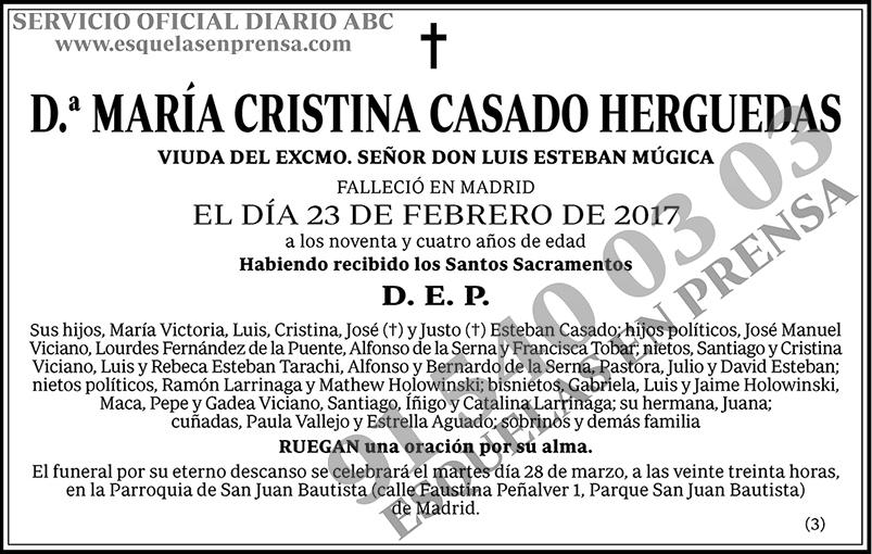 María Cristina Casado Herguedas